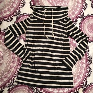 Loft striped funnel neck tunic